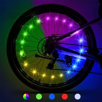 6. Tesoky LED Bike Wheel Lights (2-Tire Pack)