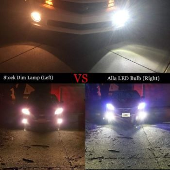 #7. Alla Lighting H11 2800 Lumens LED Fog Light Bulbs