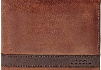 7. Fossil Men's Quinn Leather Bifold Flip ID Wallet