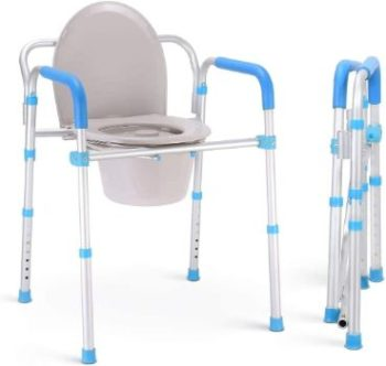 #7. Health Line Bedside Commode Chair