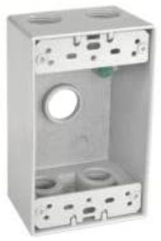 7. Sealproof 1-Gang Rectangular Exterior Electrical Outlet Box
