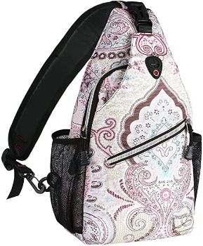 #8 MOSISO Sling bag Hiking Daypack Pattern Shoulder Bag