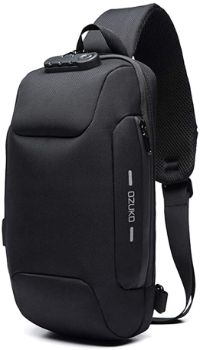 #8 OZUKO Sling Backpack USB Anti-Theft Chest Bag Casual
