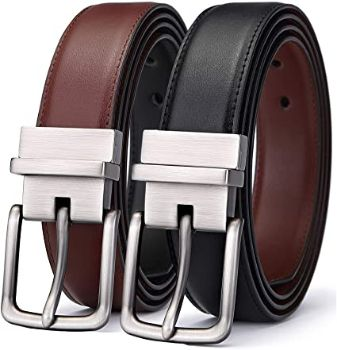 #8. Bulliant Leather Belt for Men, Reversible 1.2