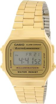 #8. Casio A168WG-9 Men's Vintage Gold Metal Band