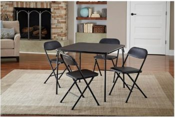8. Cosco 5pc Card Table Set