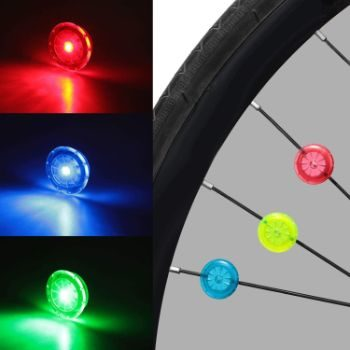 8. Mudder Cycling LED Waterproof Bike Spoke Lights