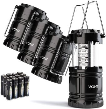 #8. Vont LED Camping Lantern, 4 Pack Lanterns