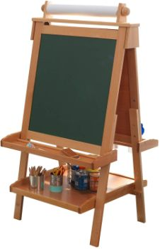 #9 KidKraft Deluxe Wood Easel-Natural