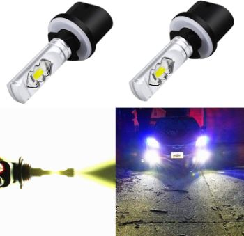#9. Alla Lighting 3800lm Fog Light 899 880 LED Bulbs