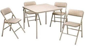 9. Cosco Folding Table and 5pc Chair Set