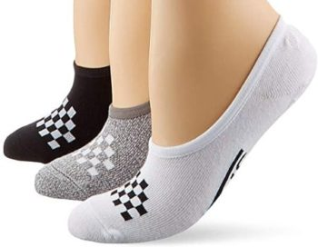 #9. Vans Check Liner Socks for Women, Multi, 3 Pack…