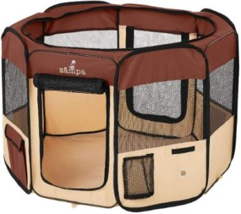 #9. Zampa Pet Playpen Kennel