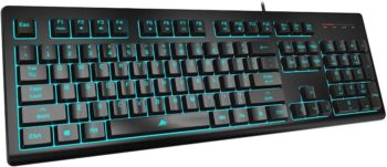 2. Powzan Light Up Quiet Gaming Keyboard