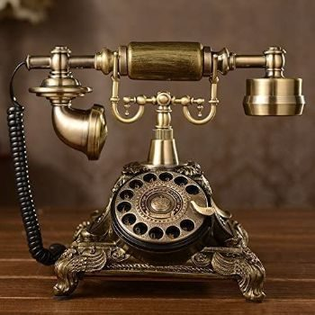 3. XICHEN copper Vintage STYLE Rotary Dial Telephone