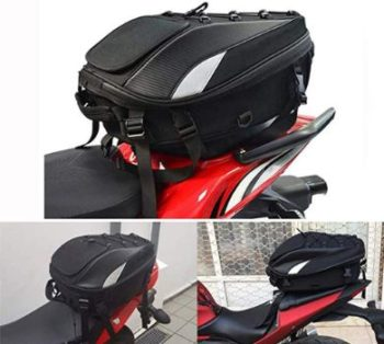 #5 Motorcycle Seat Bag Tail Bag - Dual Use Bags Motorbike