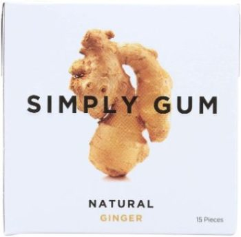 7. Simply Gum All Natural Gum – Ginger, Pack of 12