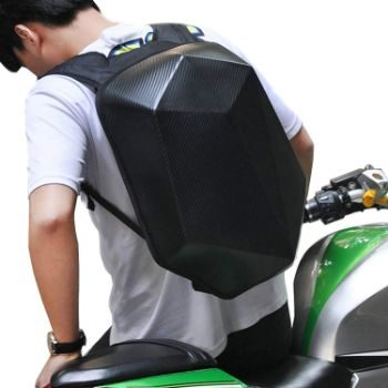 #9 Motorcycle Backpack Waterproof Hard Shell Men Backpack