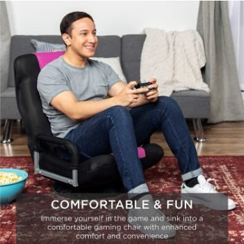 1. Best Choice Products Swivel Gaming Floor Chair
