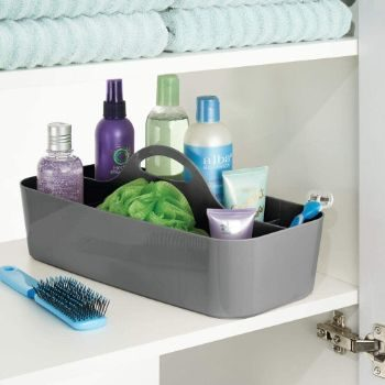 1. mDesign Plastic Portable Storage Organizer Caddy Tote