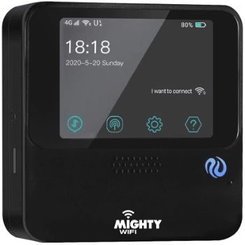 #10. MightyWifi Cloud Black Pocket WiFi