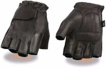 10. Milwaukee Motorcycle Riding Leather Fingerless Gloves