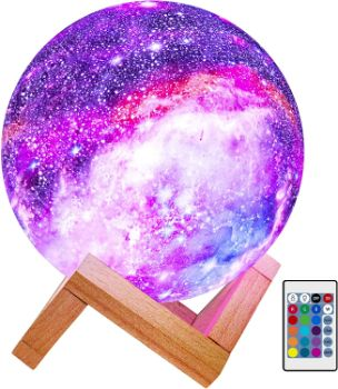 2. BRIGHTWORLD Moon Lamp