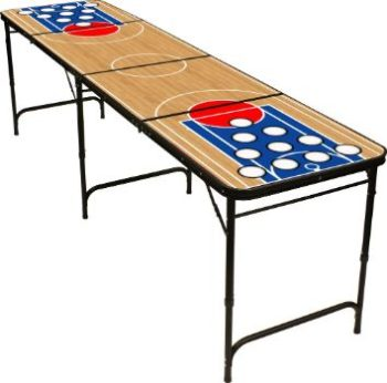 #2. Red Cup Pong 8' Folding Beer Pong Table
