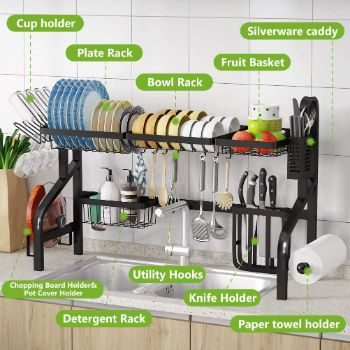 3. 1Easylife Dish Drying Rack Over The Sink