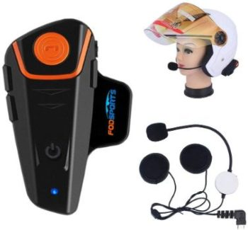 3. Fodsports BT-S2 Motorcycle Bluetooth Intercom Helmet