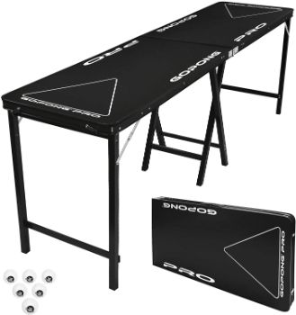 #3. GoPong PRO 8 Foot Beer Pong Table
