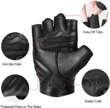 3. INBIKE Fingerless Motorcycle Gloves