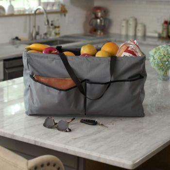 4. Household Essentials Grey Krush Canvas Utility Tote