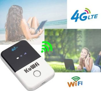 #4. KuWFi 4G Pocket WiFi Router LTE Wireless