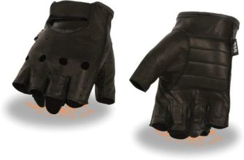 4. Milwaukee Leather SH195 Men's Fingerless Gloves