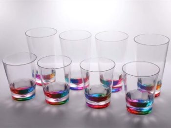 5. 14oz and 22oz Rainbow Colored Acrylic Glasses
