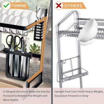 5. Adjustable Large Dish Rack Drainer
