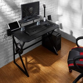 5. Amazon Basics Gaming Computer Desk, Black