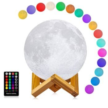 5. LOGROTATE Moon Lamp