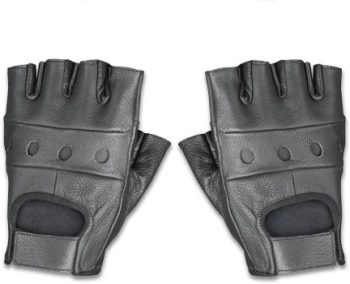 5. Raider BCS-500-M Leather Fingerless Driving Gloves