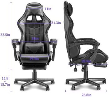 5. Soontrans Massage Plus Gaming Chair (Hot Pink)