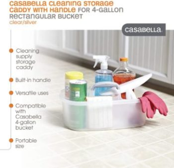 6. Casabella Cleaning Handle Bucket, 4 gallons