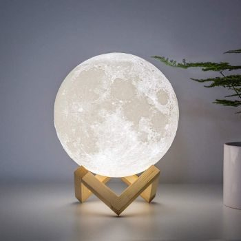 7. BRIGHTWORLD Moon Lamp