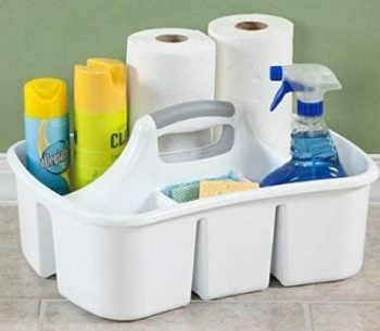 7. DividedCompartment Cleaning Utility Caddy Tote