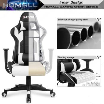 7. Homall Gaming Chair, Swivel Task Chair