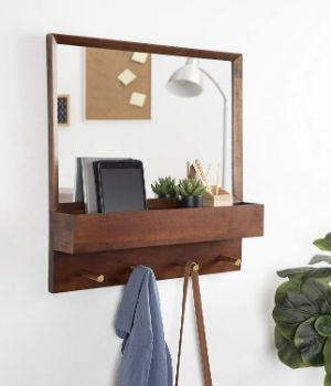 7. Kate and Laurel Hinter Mid-Century Framed Wall Mirror