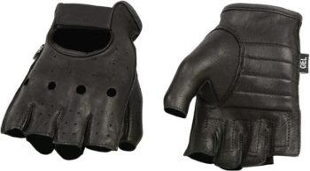 7. Shaf International SH851-BLK-L Deer Skin Fingerless Gloves