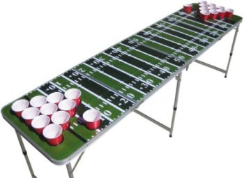 #7. The Pong Squad Football Field Beer Pong Table