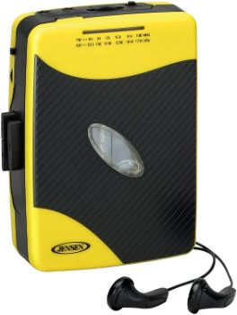 8. Jensen Portable Stereo Cassette Player (Yellow)