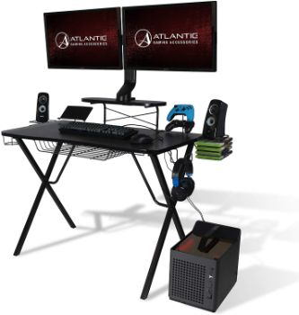 9. Atlantic Gaming Desk Pro - Curved-Front